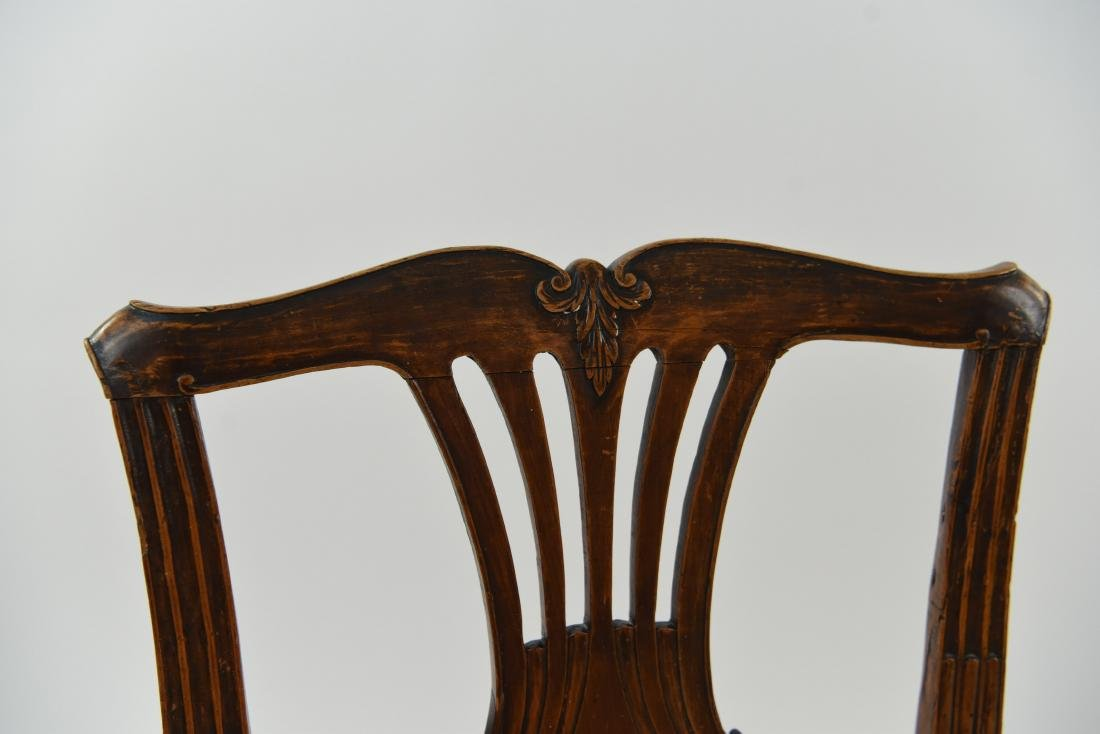 PAIR OF ENGLISH CARVED BACK SIDE CHAIRS - 6