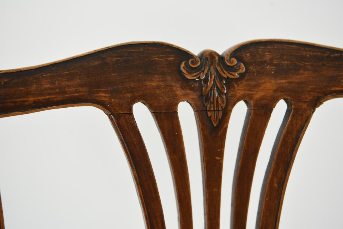 PAIR OF ENGLISH CARVED BACK SIDE CHAIRS - 7