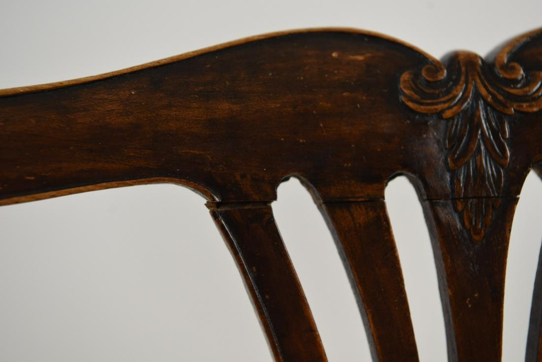 PAIR OF ENGLISH CARVED BACK SIDE CHAIRS - 8