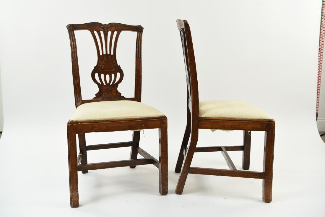 PAIR OF ENGLISH CARVED BACK SIDE CHAIRS - 9