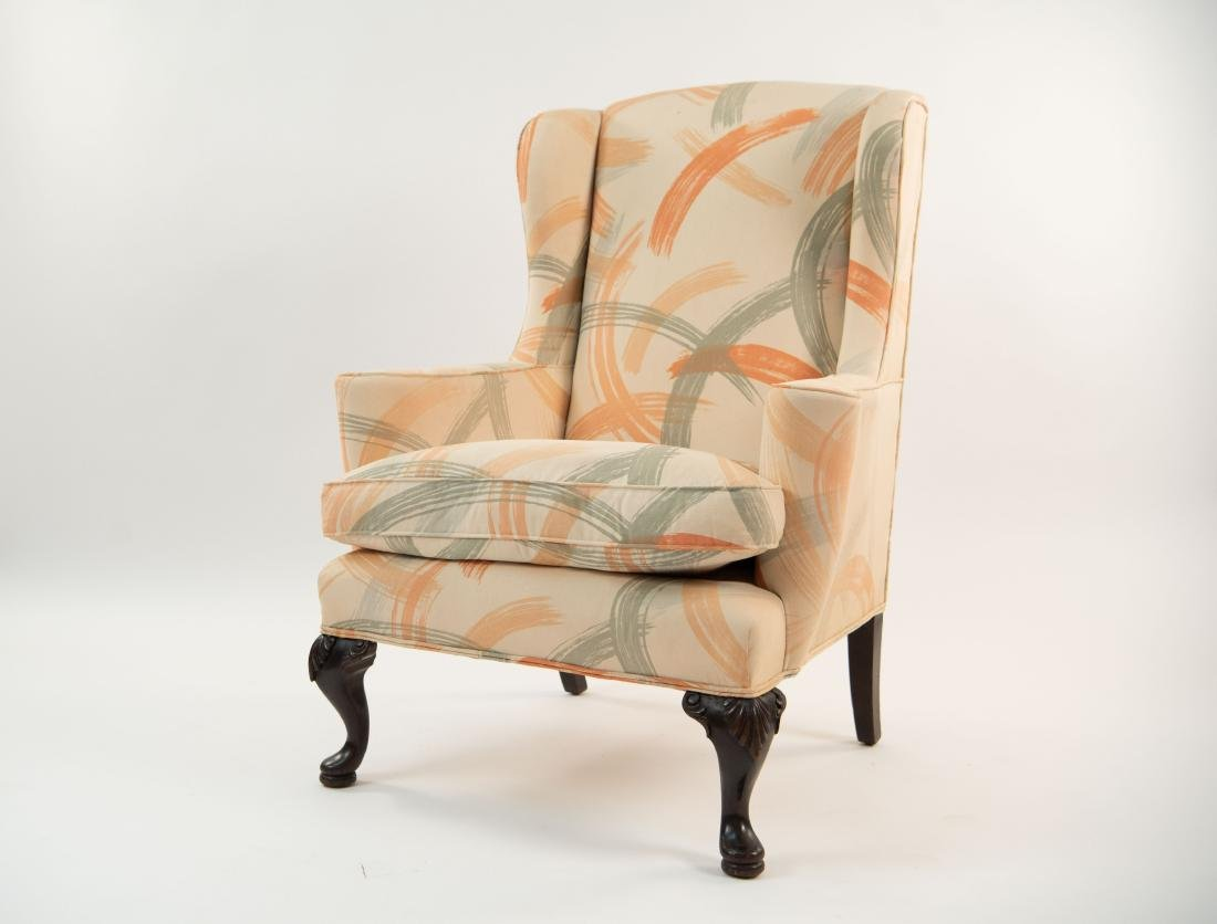 UPHOLSTERED WINGBACK ARMCHAIR - 2