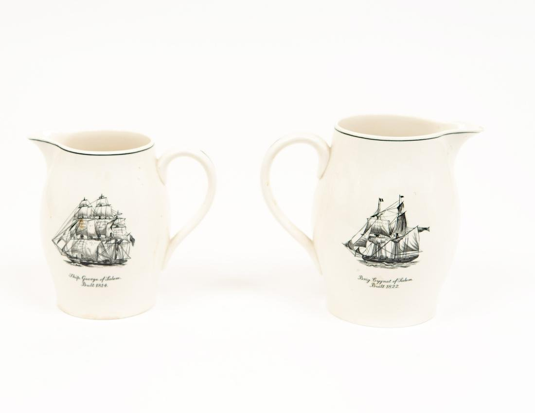 TWO ENGLISH COPELAND SPODE SHIP PITCHERS