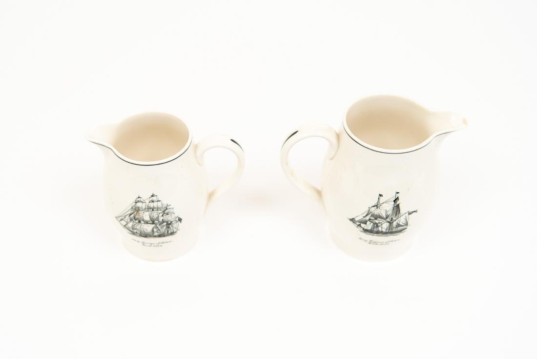 TWO ENGLISH COPELAND SPODE SHIP PITCHERS - 2