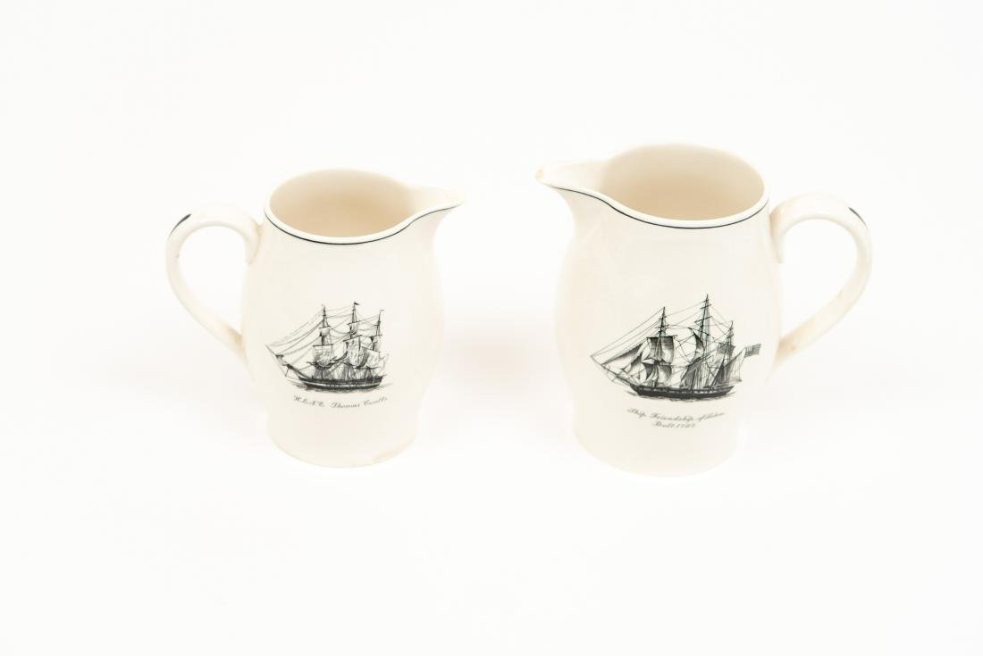 TWO ENGLISH COPELAND SPODE SHIP PITCHERS - 3