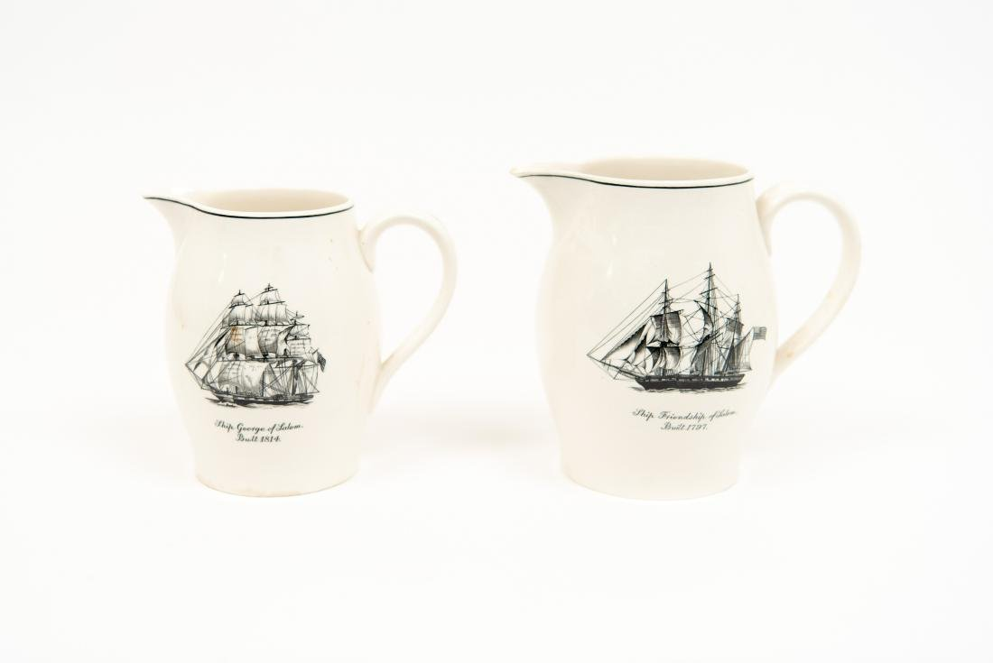 TWO ENGLISH COPELAND SPODE SHIP PITCHERS - 5