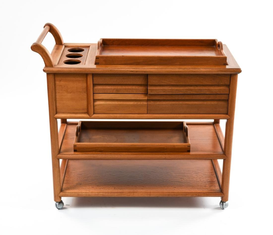 CONTEMPORARY WOODEN BAR CART