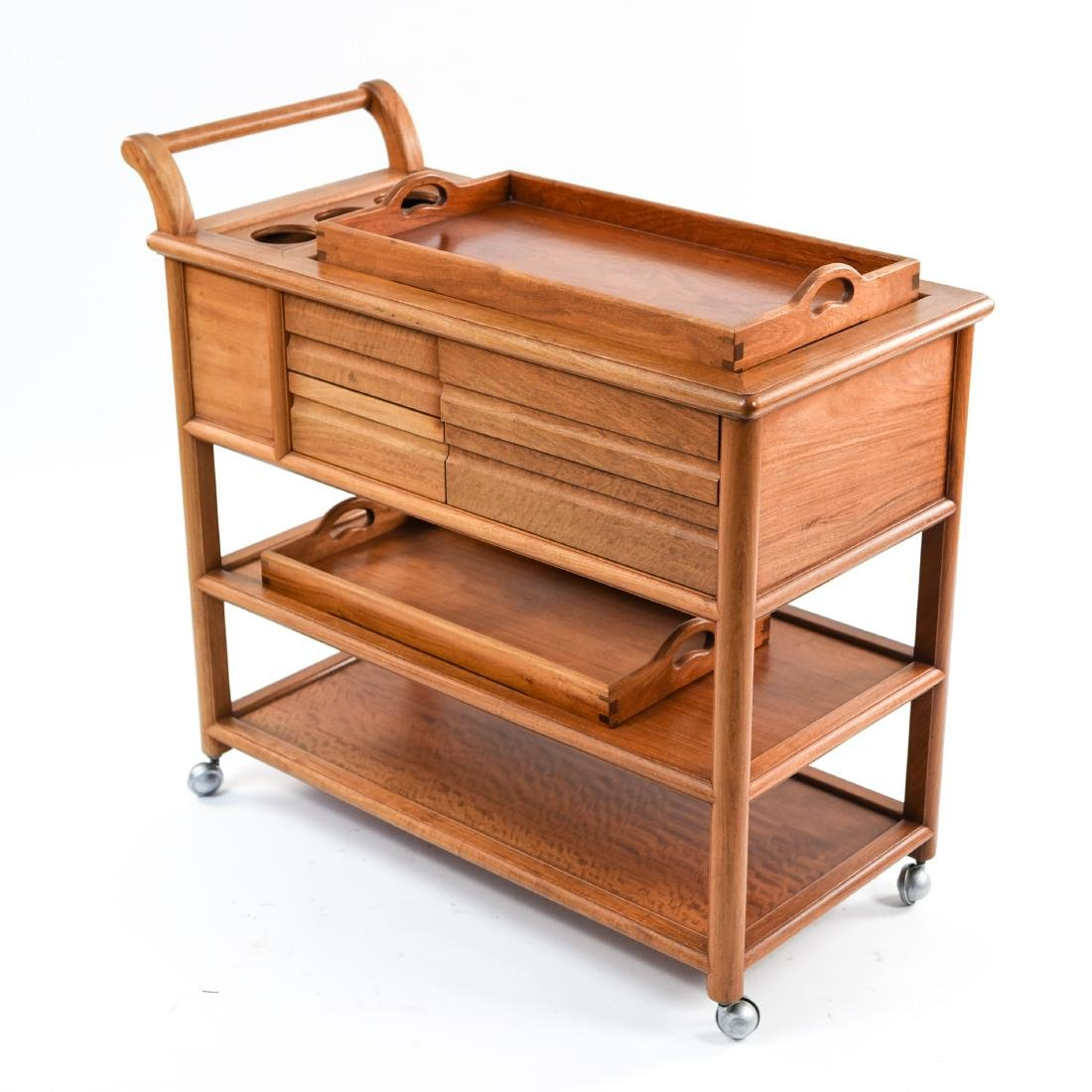 CONTEMPORARY WOODEN BAR CART - 6