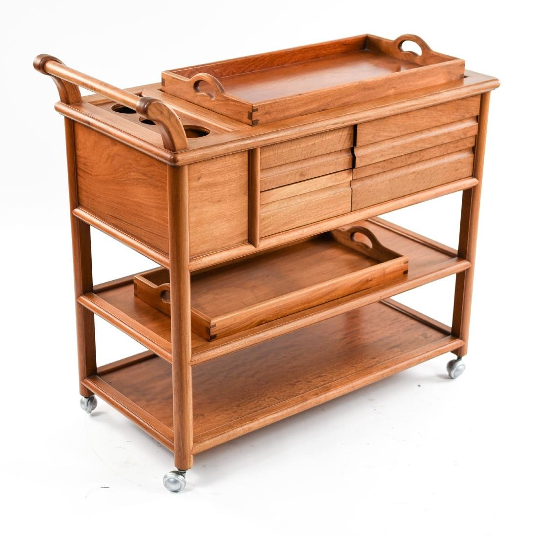 CONTEMPORARY WOODEN BAR CART - 7