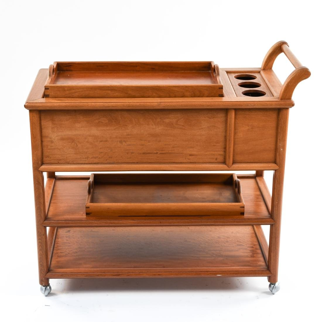 CONTEMPORARY WOODEN BAR CART - 8