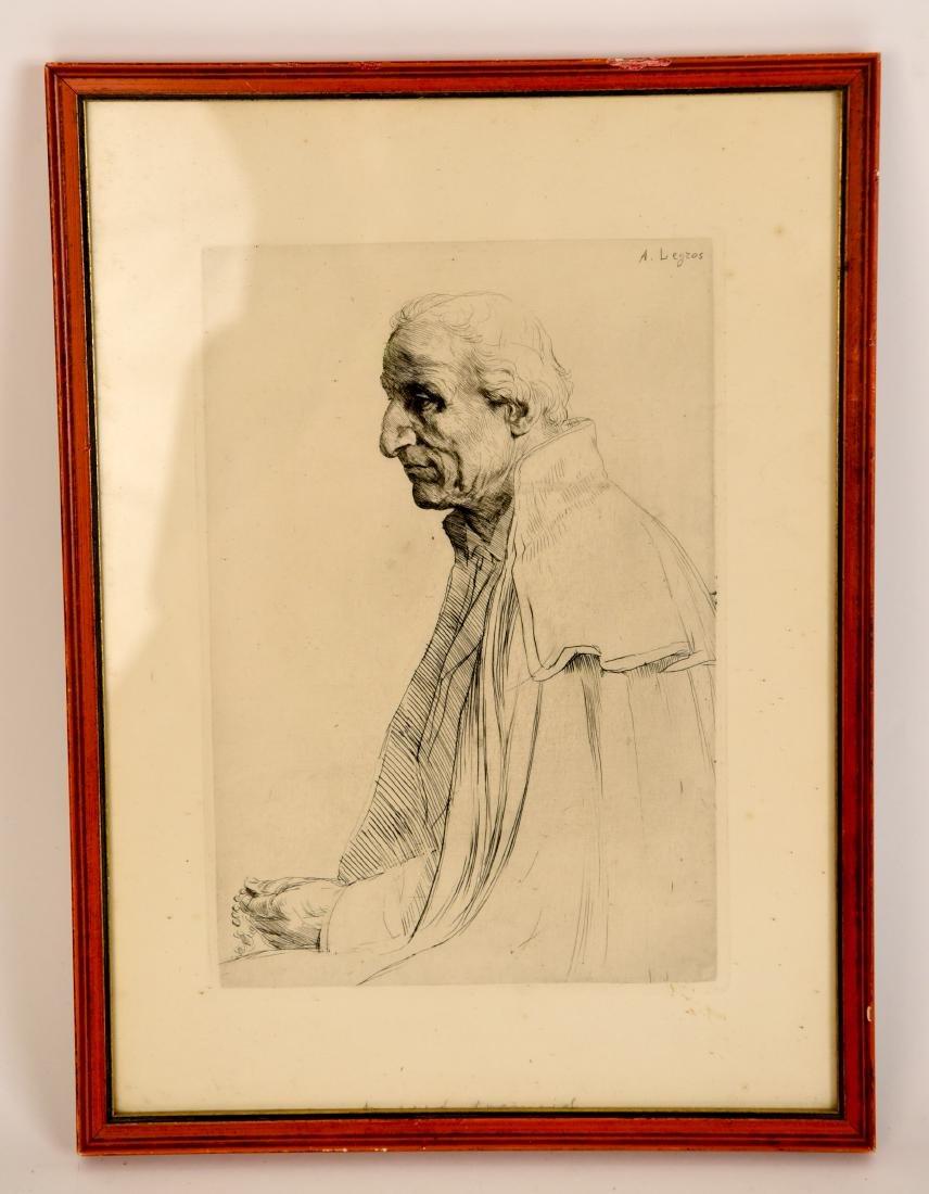 ALPHONSE LEGROS (1837 – 1911) ETCHING