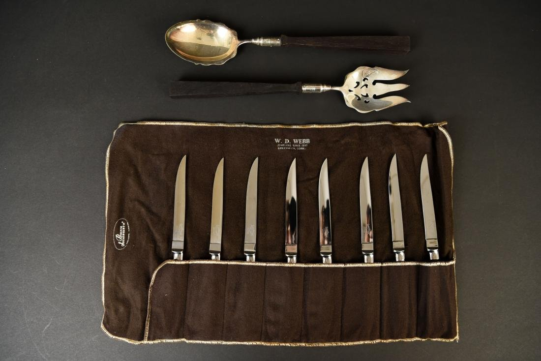 GROUPING OF SERVINGWARE AND KNIVES - 2