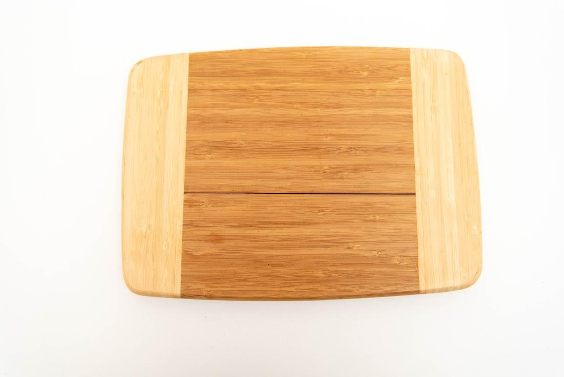 WOODEN SERVING TRAY GROUPING ETC. - 10