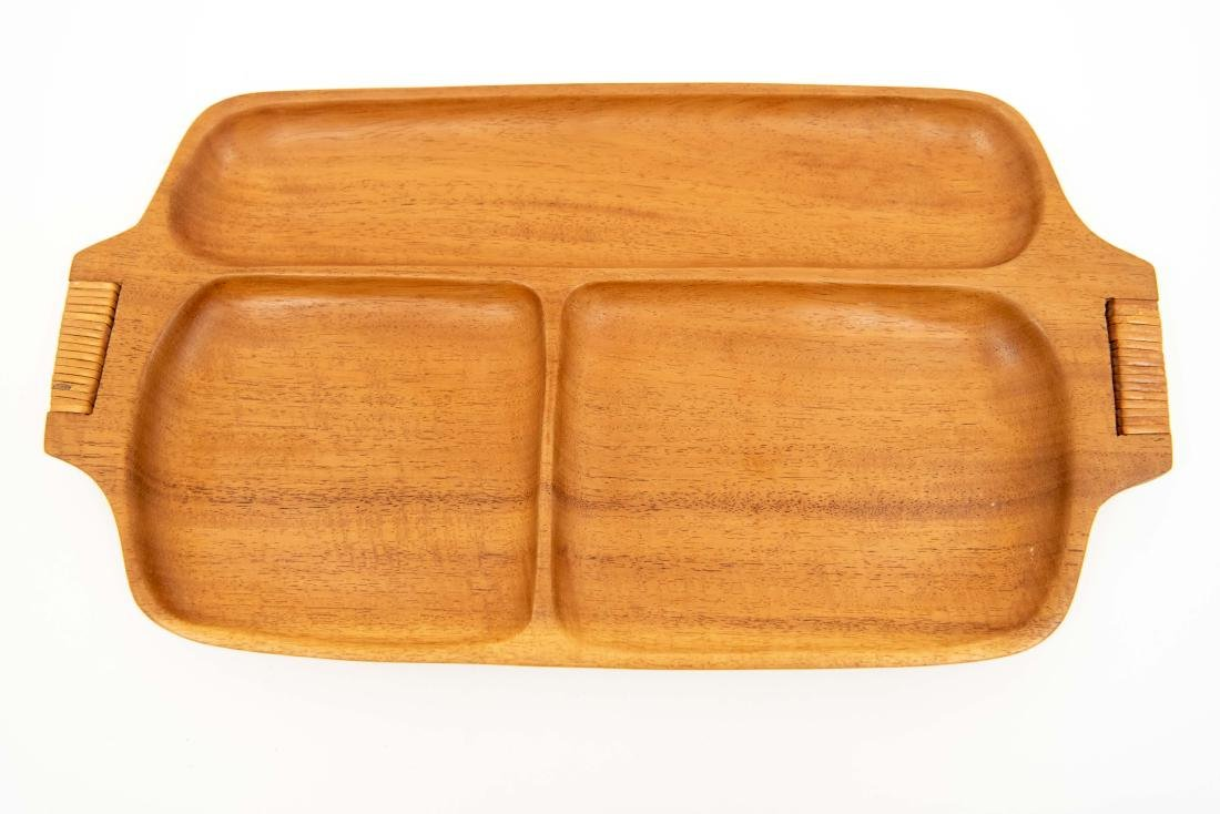 WOODEN SERVING TRAY GROUPING ETC. - 8