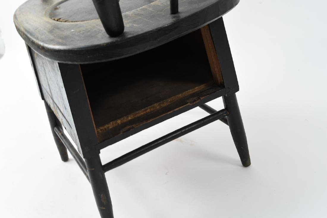 19TH C. PAINTED POTTY / COMMODE SPINDLE BACK CHAIR - 7