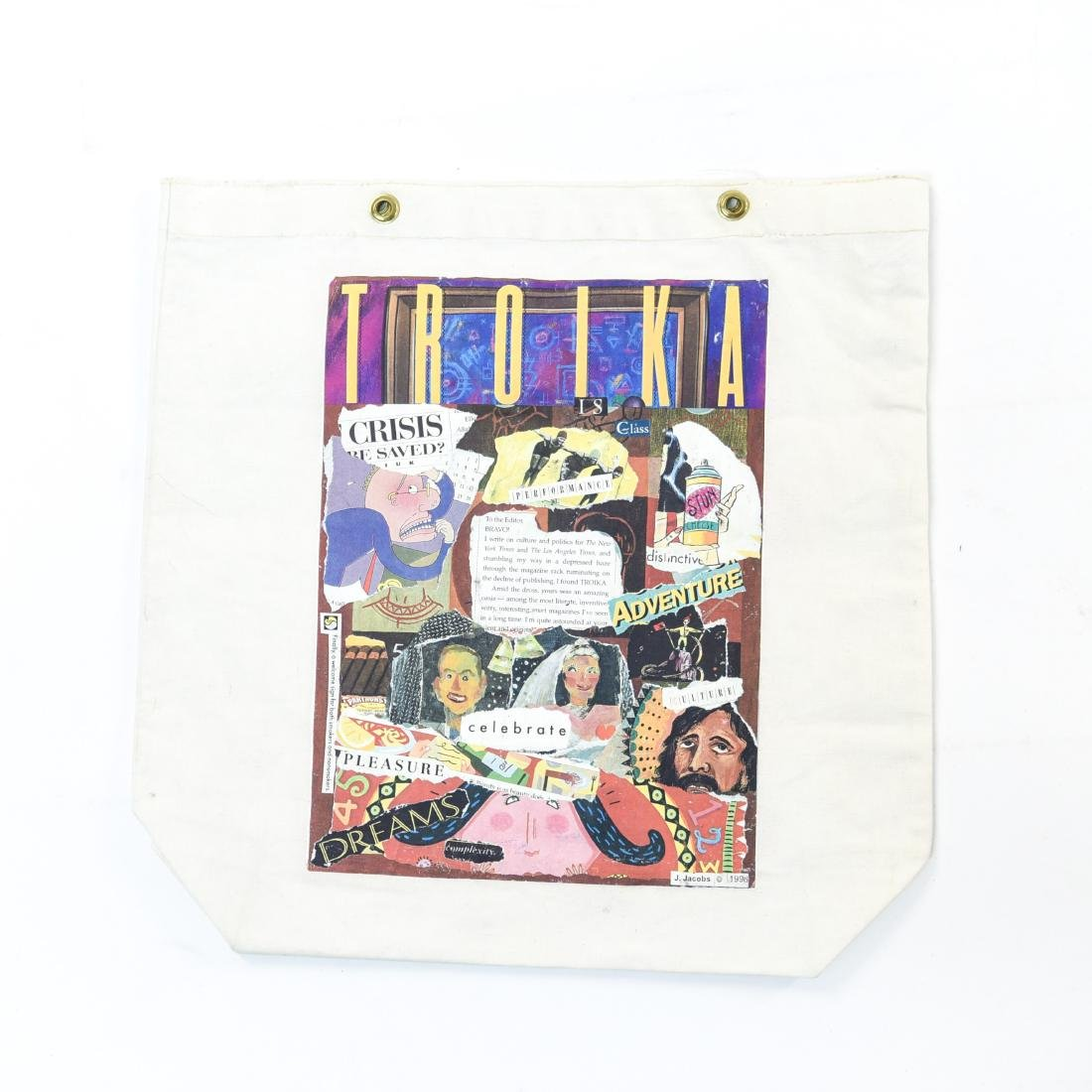 J. JACOBS COLLAGE MIXED MEDIA BAG