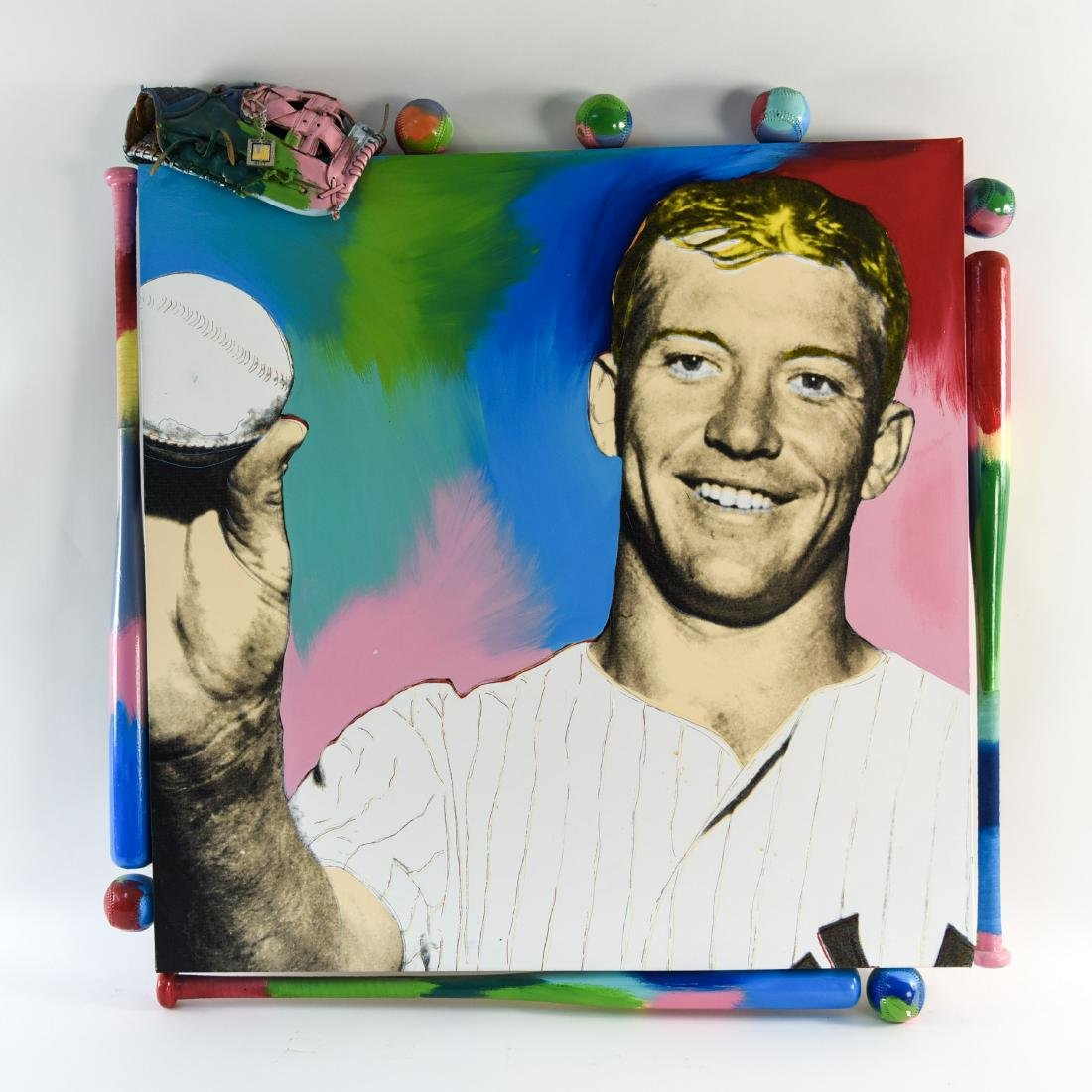STEVE KAUFMAN (1960-2010) MICKEY MANTLE