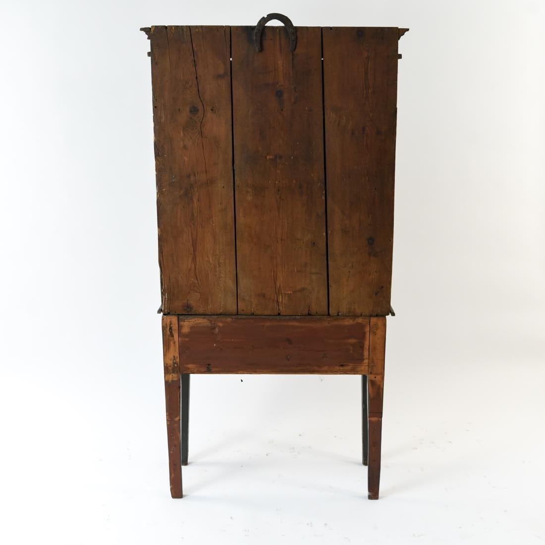ANTIQUE SWEDISH PAINTED CUPBOARD C. 1837 - 10