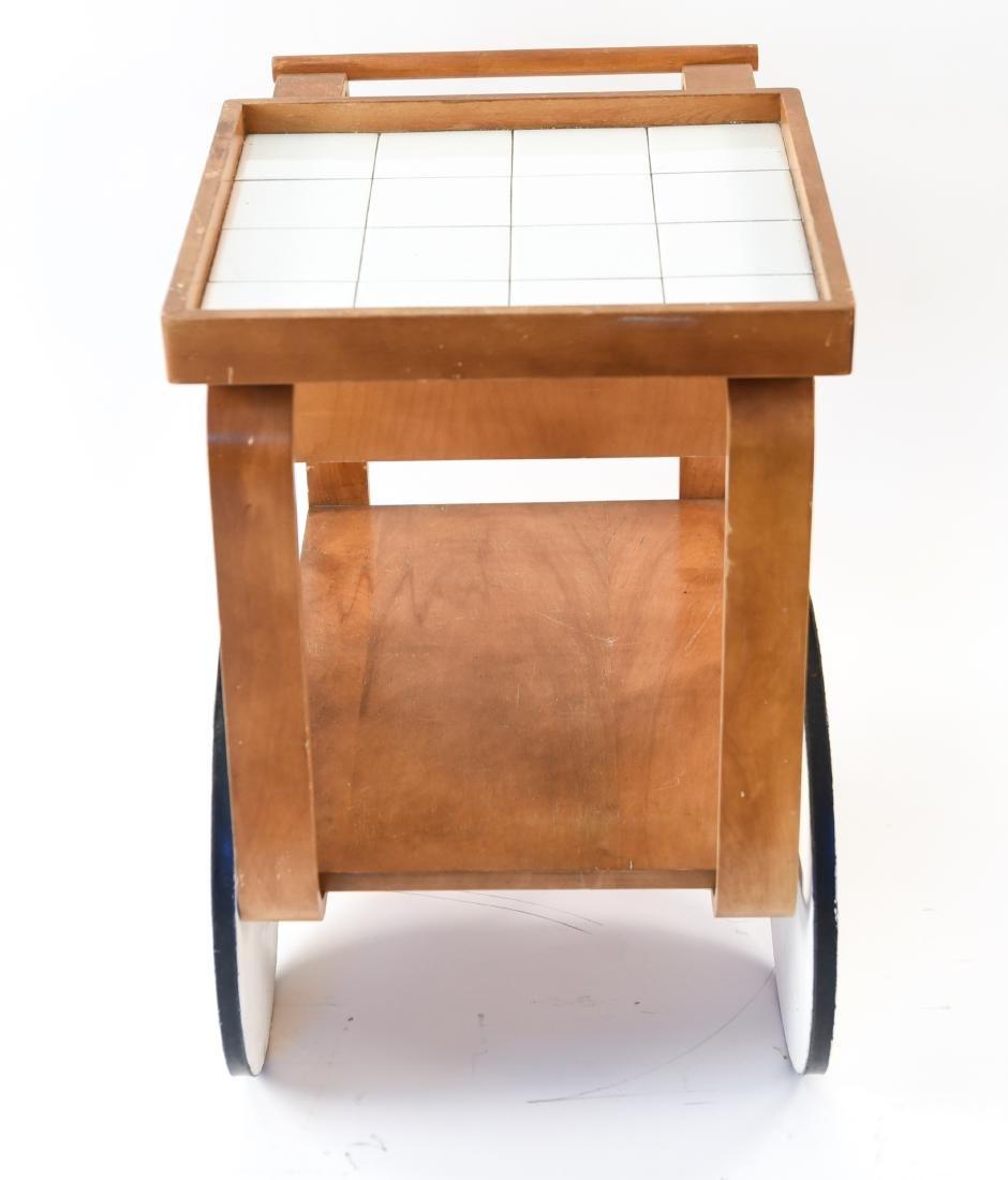 MID-CENTURY BAR CART MANNER OF ALVAR AALTO - 7