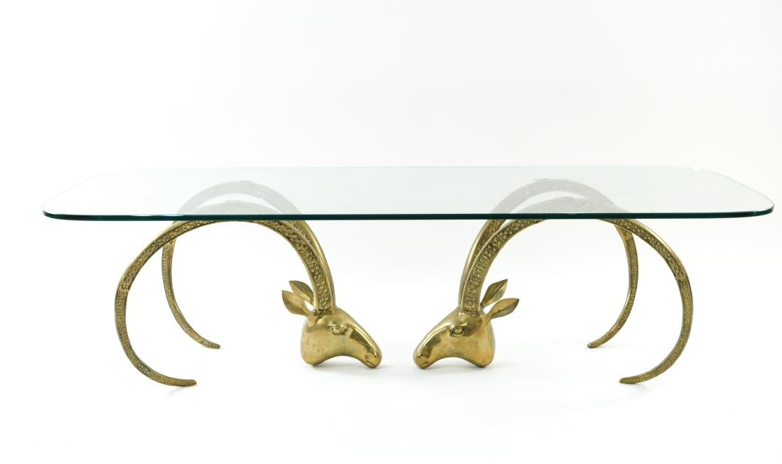 IBEX BRASS AND GLASS COFFEE TABLE - 2
