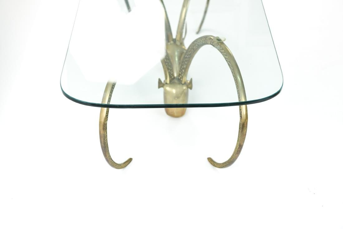 IBEX BRASS AND GLASS COFFEE TABLE - 5