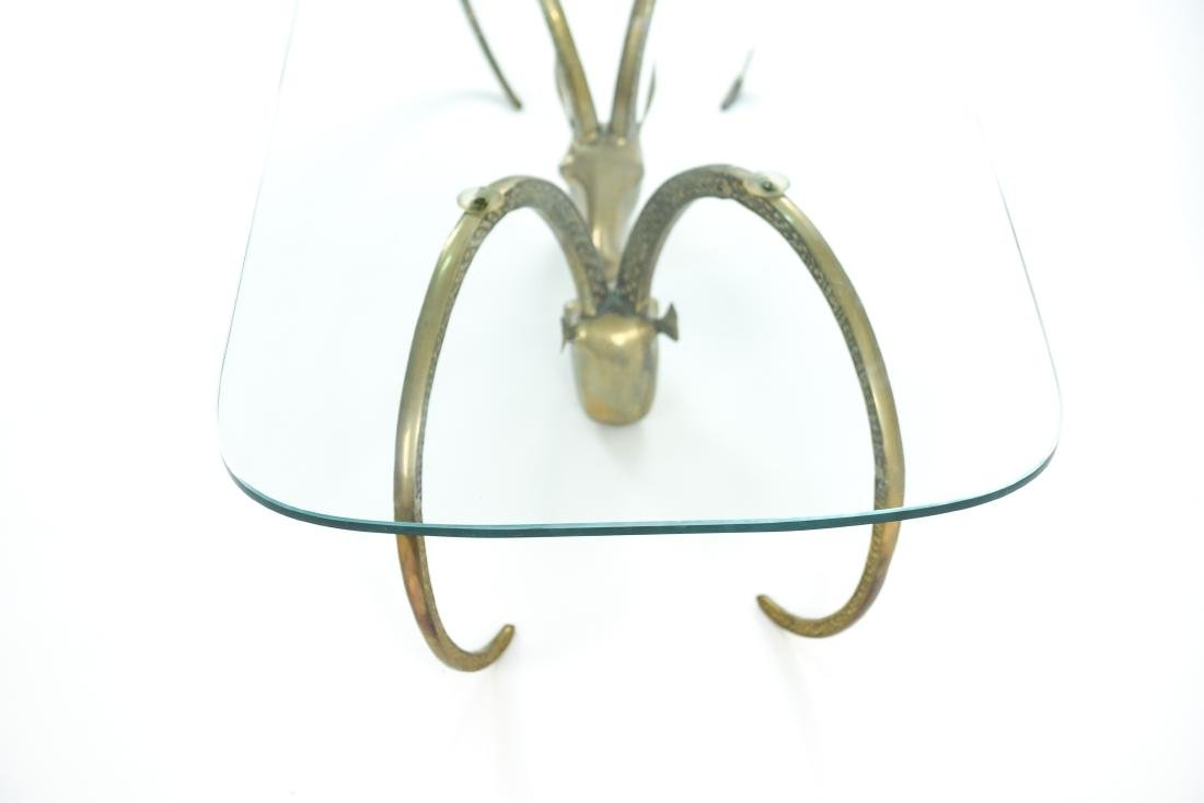 IBEX BRASS AND GLASS COFFEE TABLE - 6