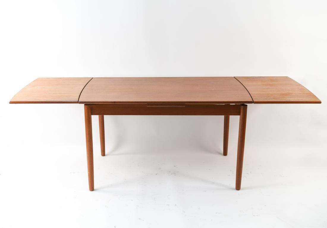 DANISH MID-CENTURY TEAK EXTENDING DINING TABLE - 4