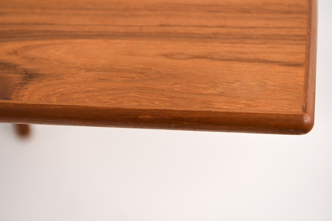 DANISH MID-CENTURY TEAK EXTENDING DINING TABLE - 8