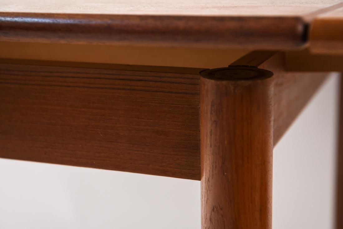 DANISH MID-CENTURY TEAK EXTENDING DINING TABLE - 9