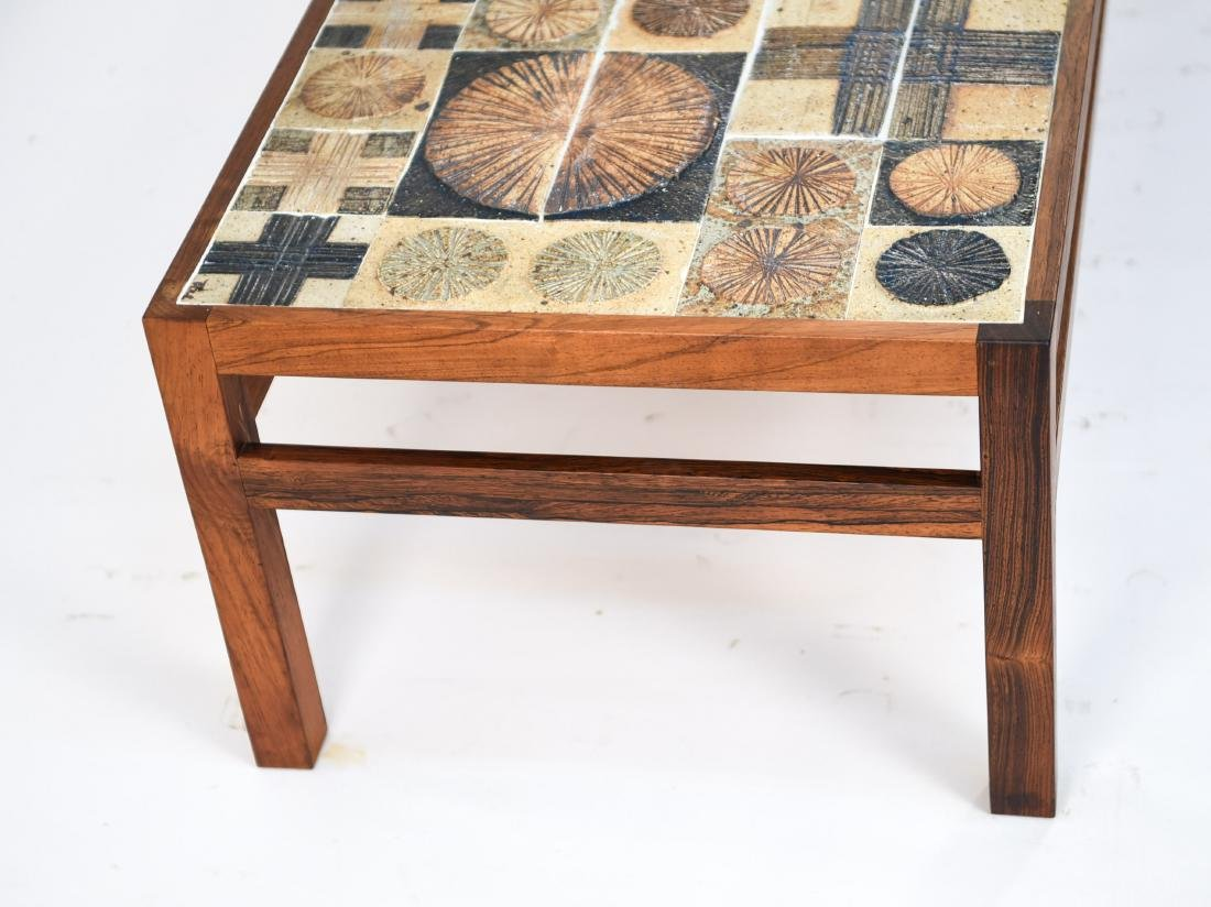 DANISH COFFEE TABLE W/ ROYAL COPENHAGEN TILES - 9