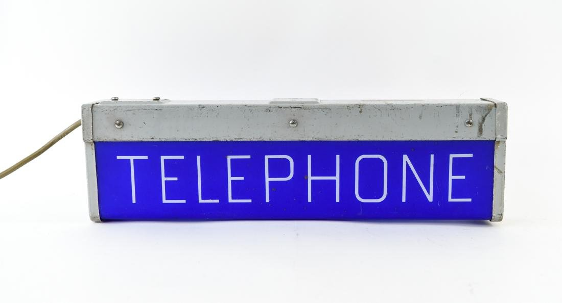 ART DECO ILLUMINATED TELEPHONE SIGN