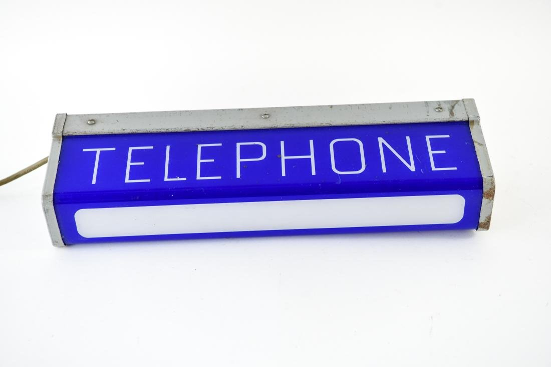 ART DECO ILLUMINATED TELEPHONE SIGN - 4
