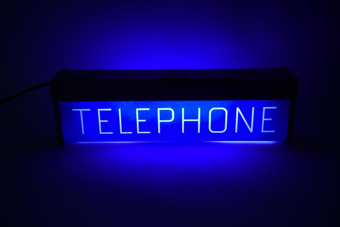ART DECO ILLUMINATED TELEPHONE SIGN - 8