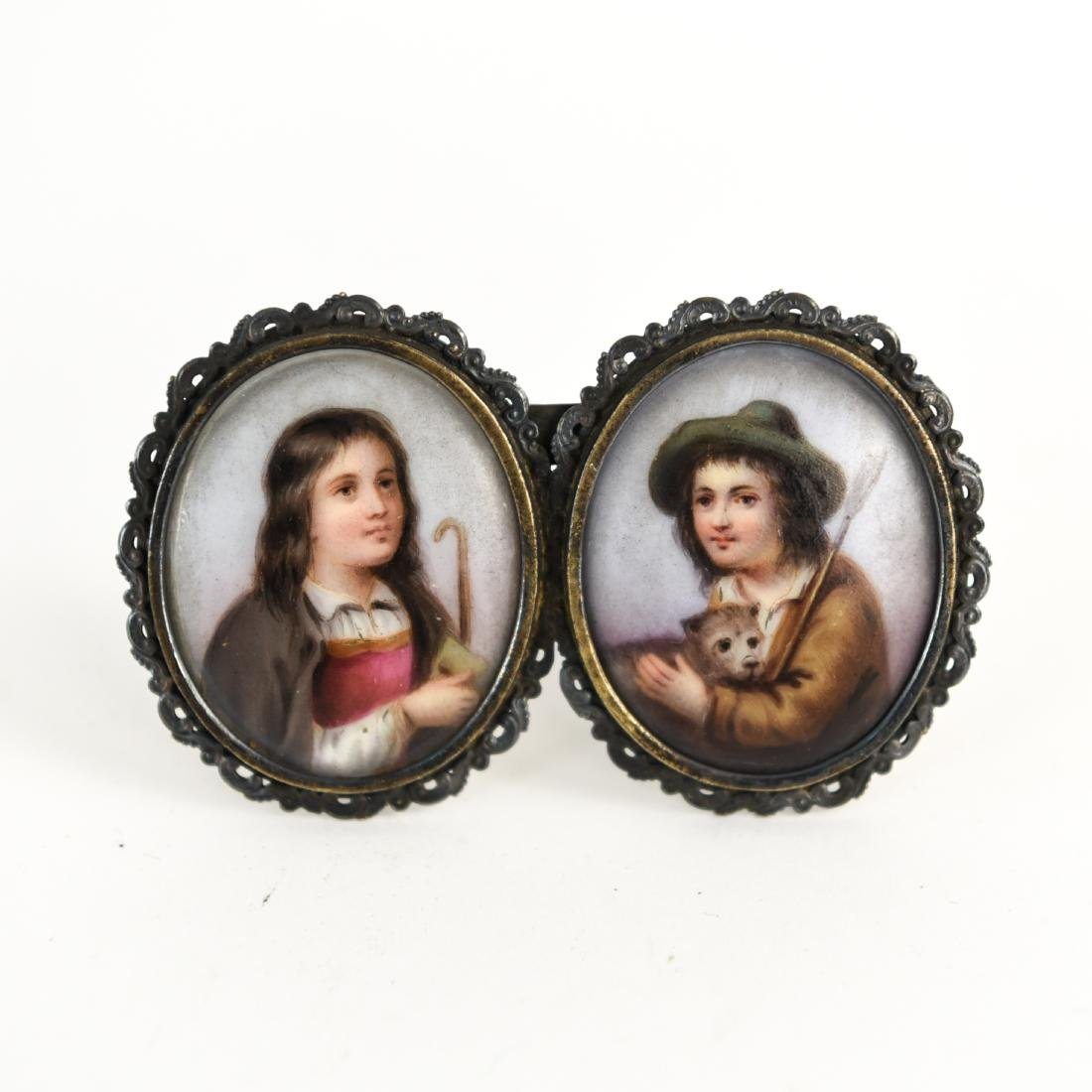 GROUPING OF (10) MINIATURE PORTRAITS - 2