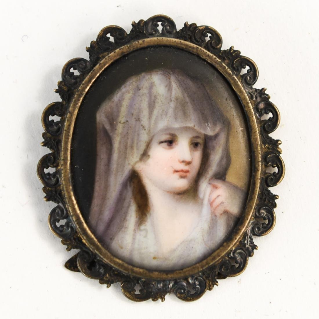 GROUPING OF (10) MINIATURE PORTRAITS - 5