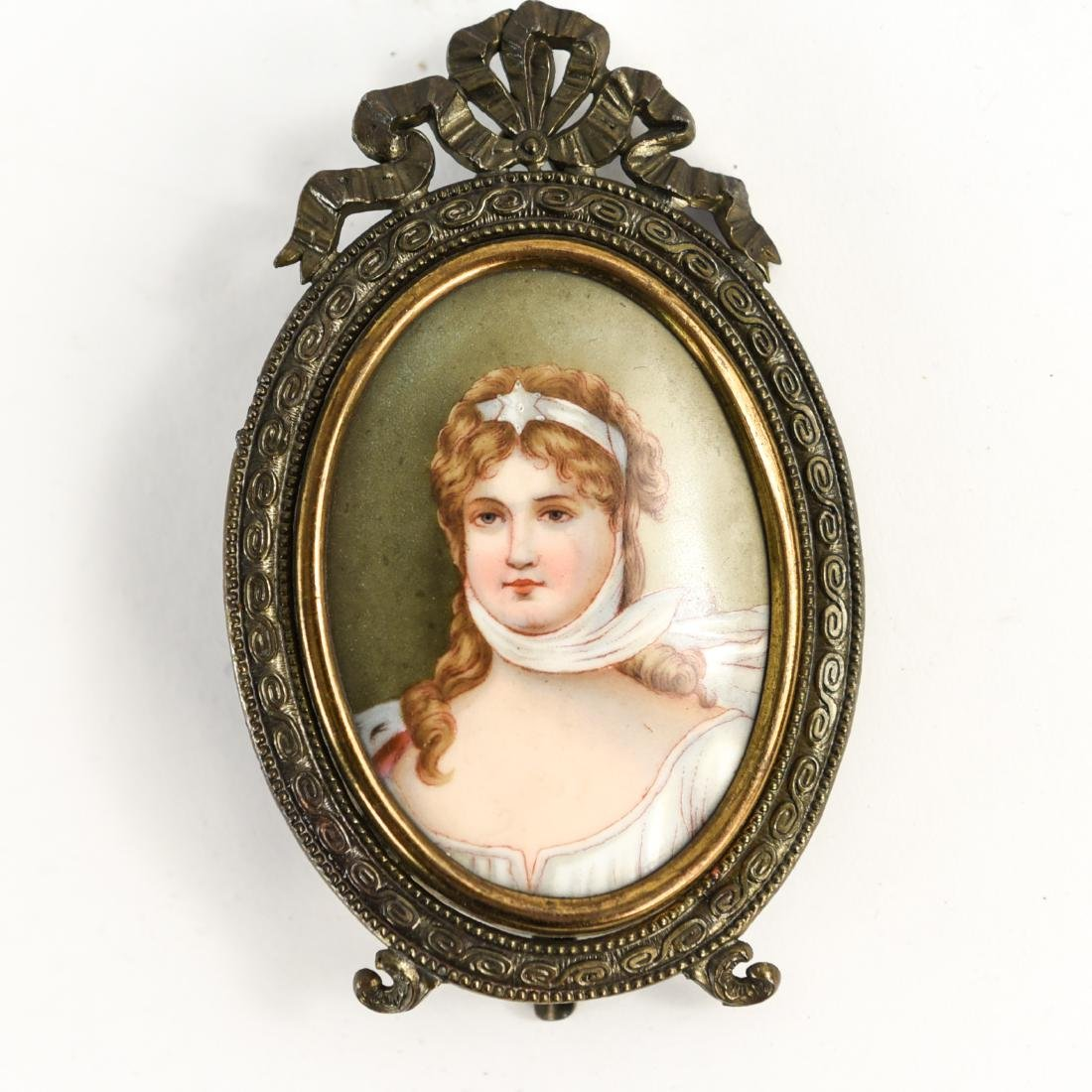 GROUPING OF (10) MINIATURE PORTRAITS - 6