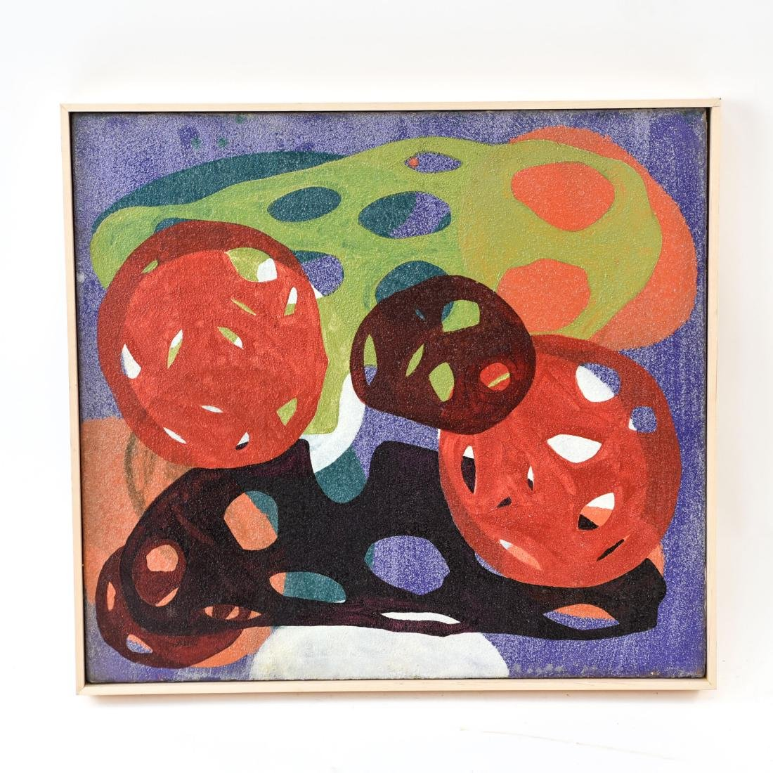 BIOMORPHIC ABSTRACT OIL ON CANVAS