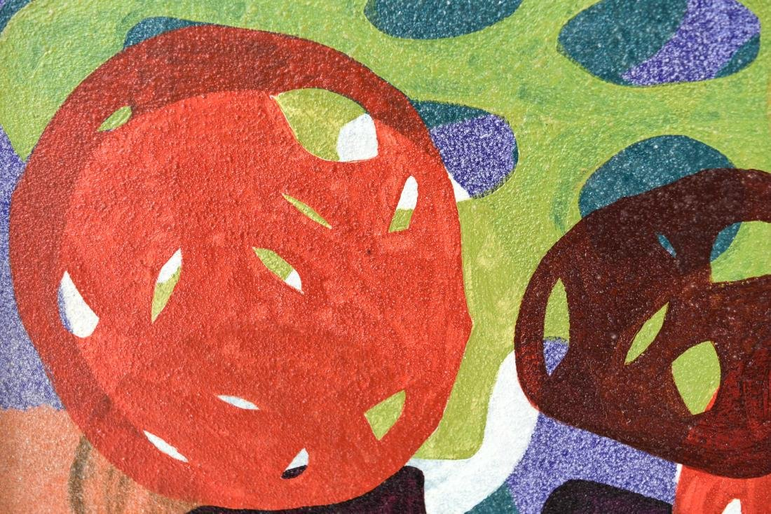 BIOMORPHIC ABSTRACT OIL ON CANVAS - 3