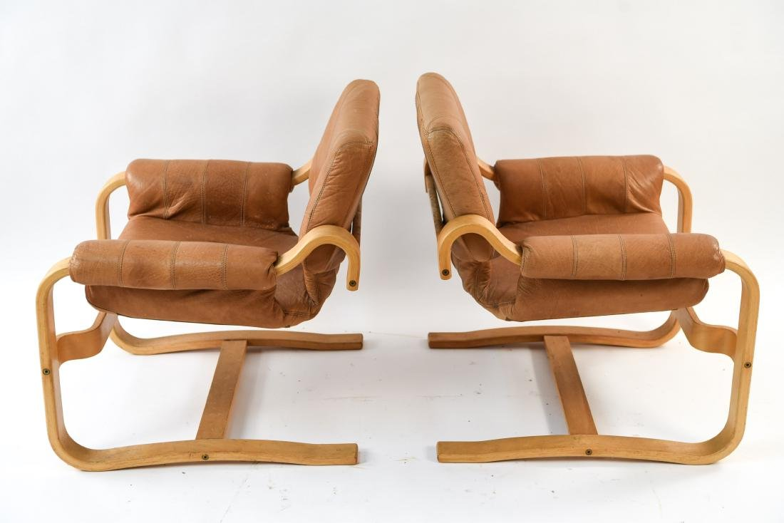 DANISH MID-CENTURY BENTWOOD LOUNGE CHAIRS - 10