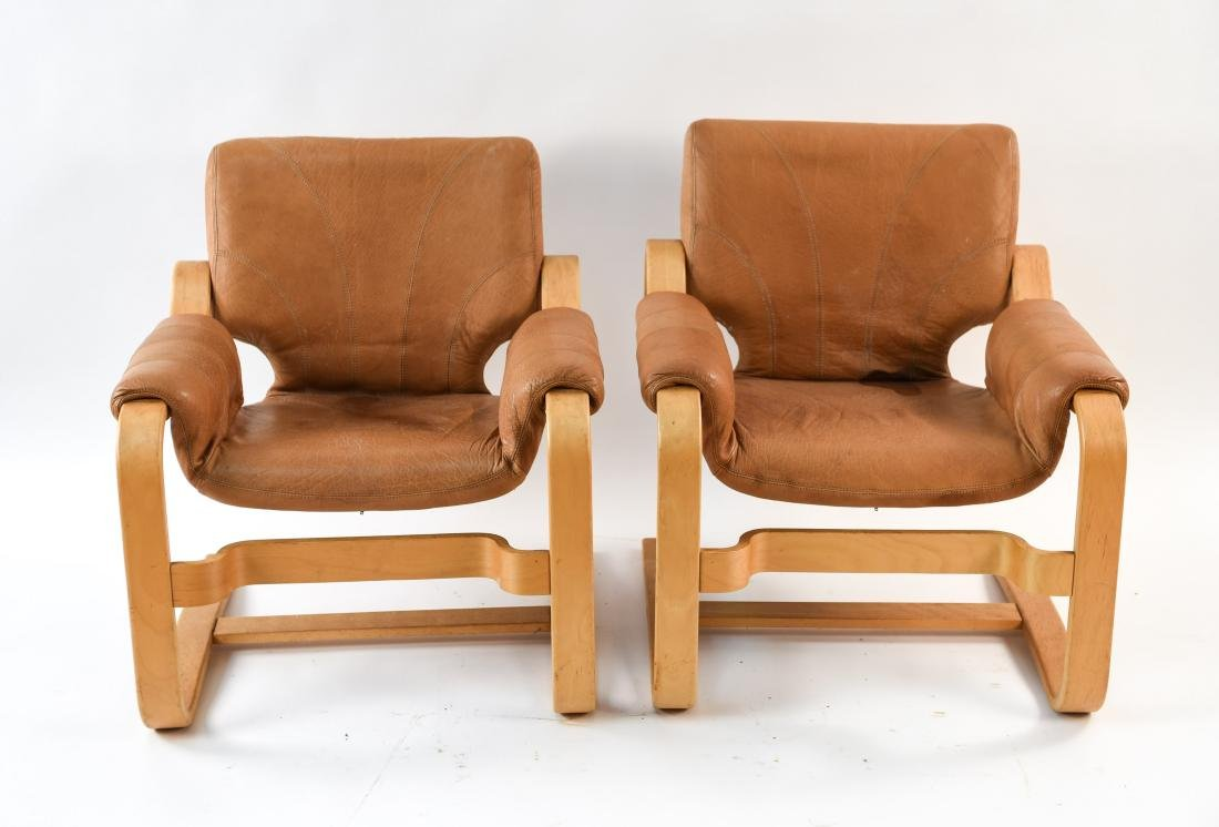 DANISH MID-CENTURY BENTWOOD LOUNGE CHAIRS