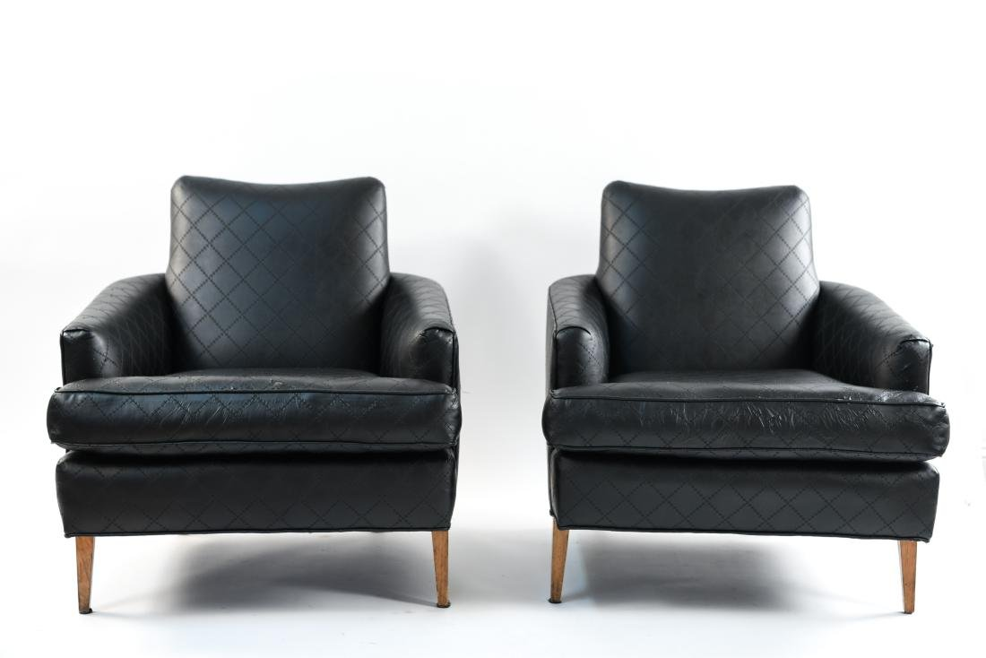PAIR OF UPHOLSTERED LOUNGE CHAIRS - 3