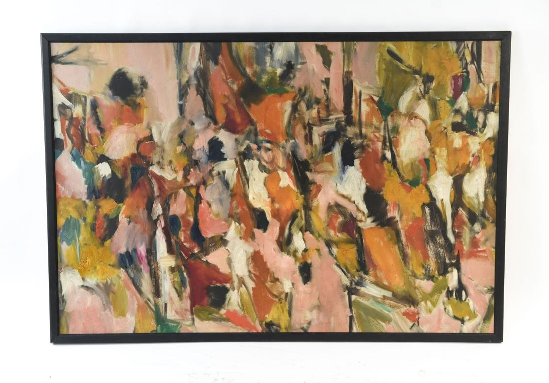 ABSTRACT OIL ON CANVAS C. 1950S
