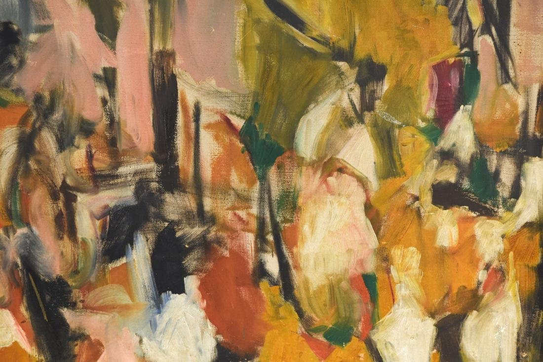 ABSTRACT OIL ON CANVAS C. 1950S - 3