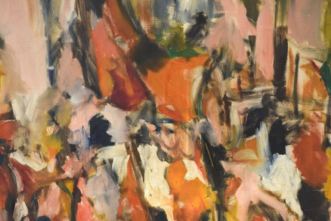 ABSTRACT OIL ON CANVAS C. 1950S - 4