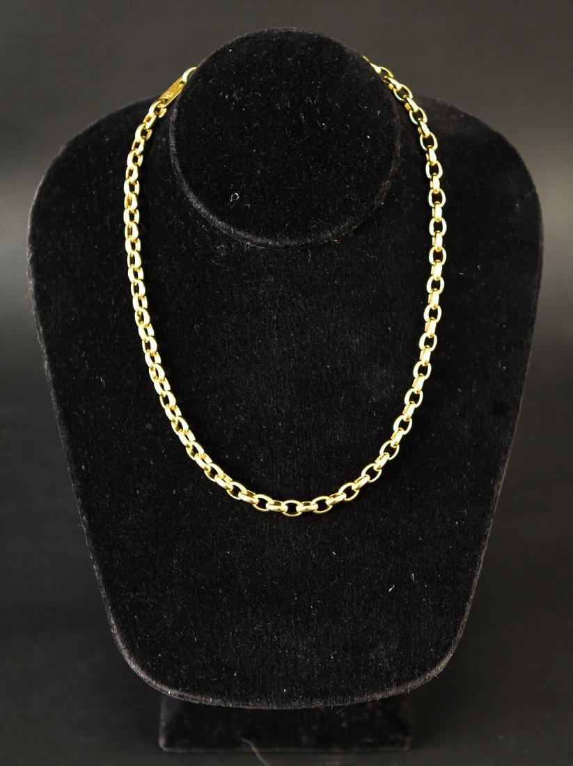 POMELLATO 18K GOLD HEAVY CHAIN NECKLACE - 3