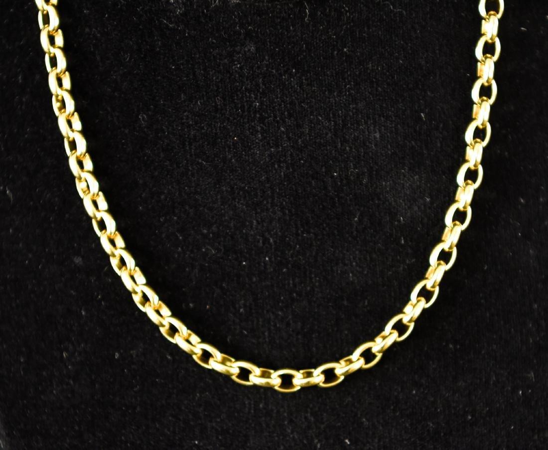 POMELLATO 18K GOLD HEAVY CHAIN NECKLACE - 4