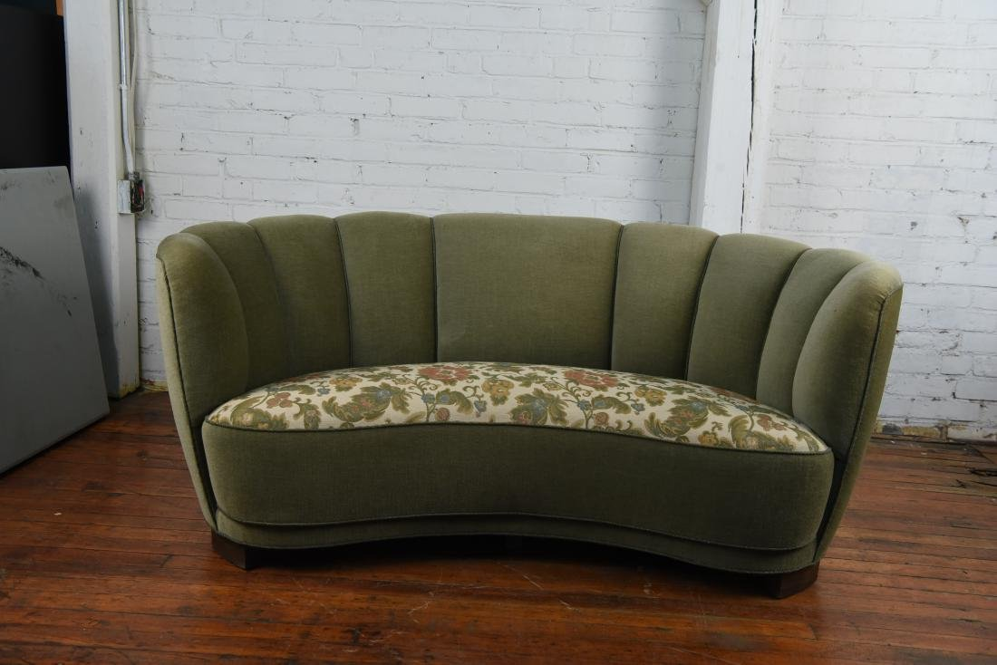 DANISH 1940S ART DECO BANANA FORM SOFA - 2