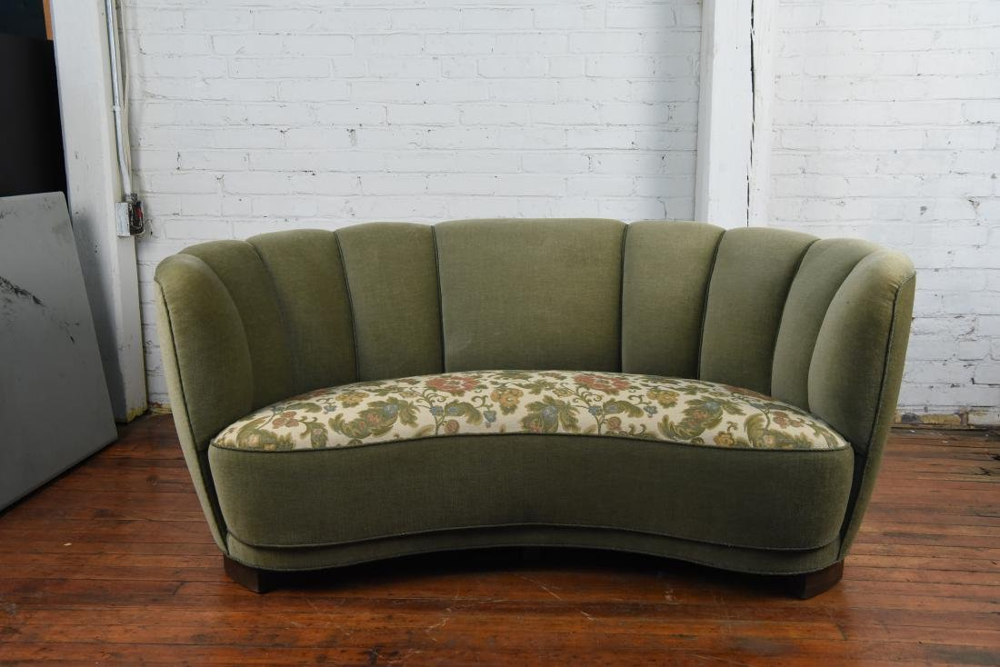 DANISH 1940S ART DECO BANANA FORM SOFA - 3