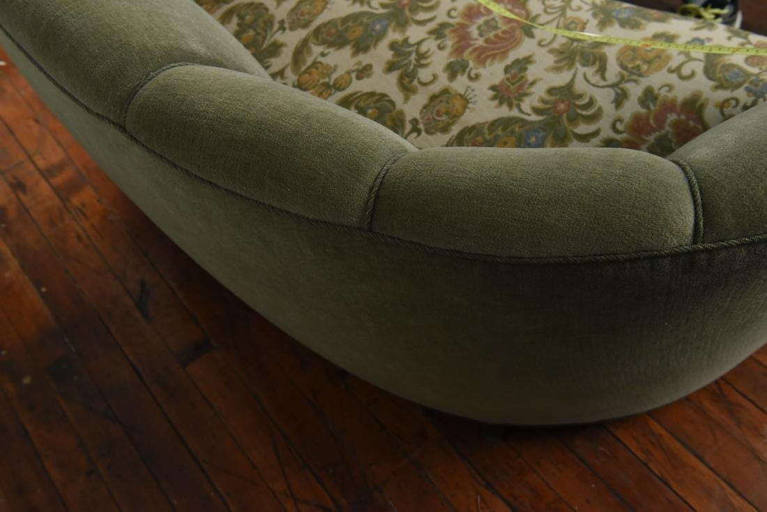DANISH 1940S ART DECO BANANA FORM SOFA - 7