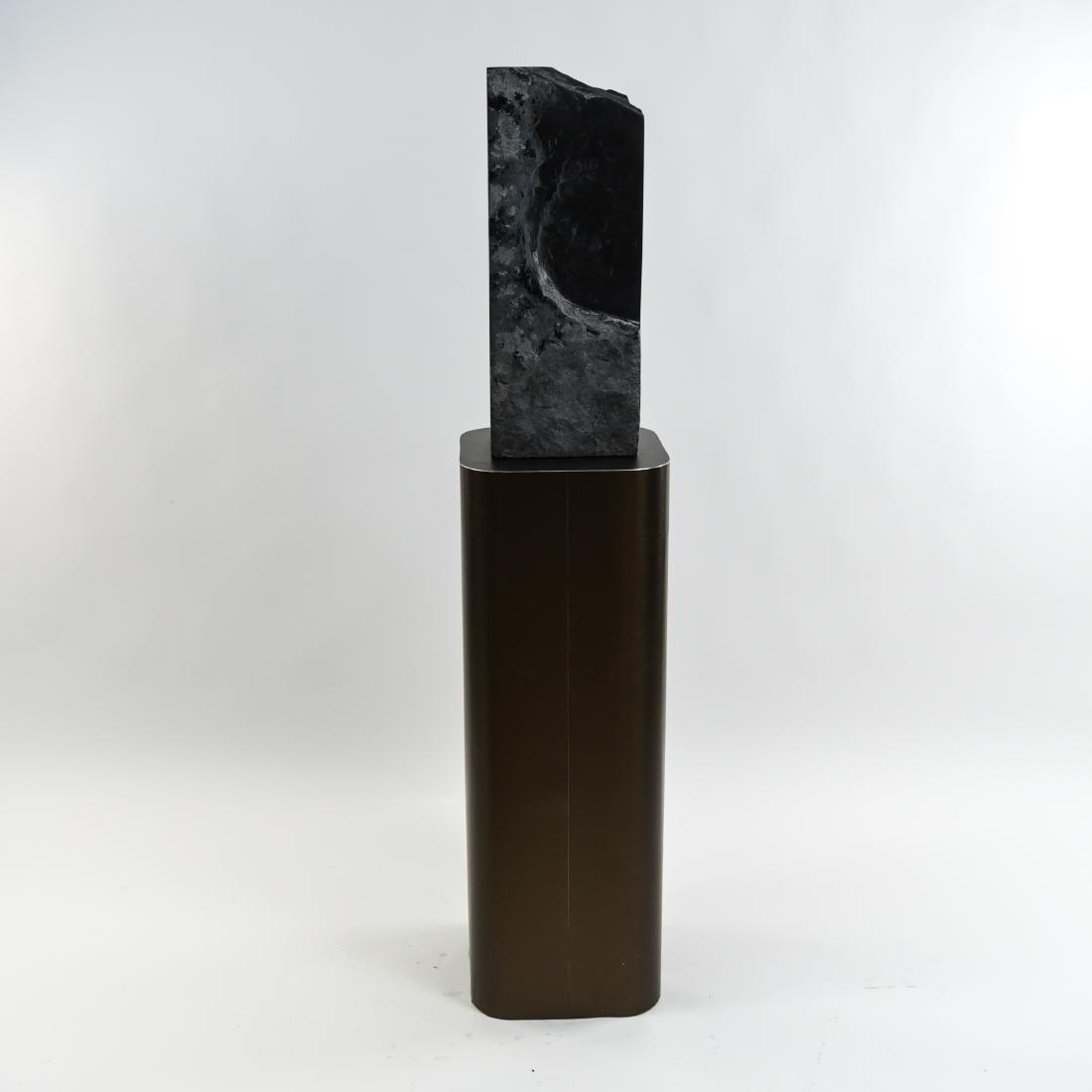 MANNER OF MINORU NIIZUMA BLACK MARBLE SCULPTURE - 10