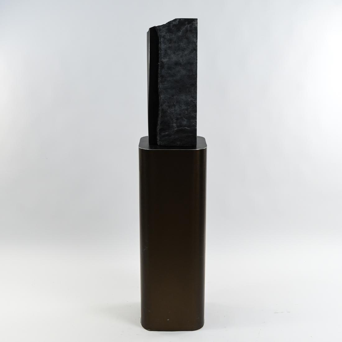MANNER OF MINORU NIIZUMA BLACK MARBLE SCULPTURE - 3